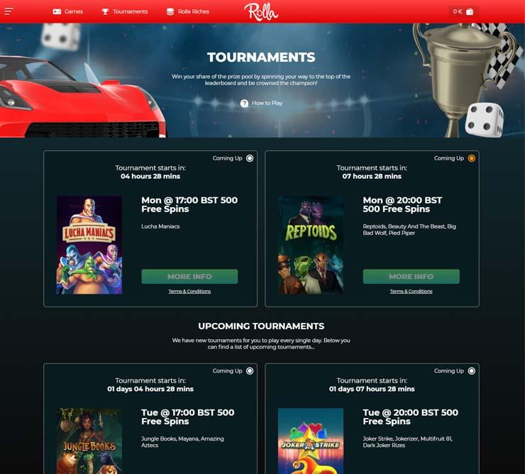 Rolla Casino tournaments.
