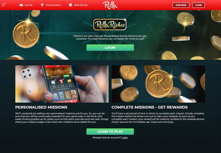 Rolla Riches rewards club.