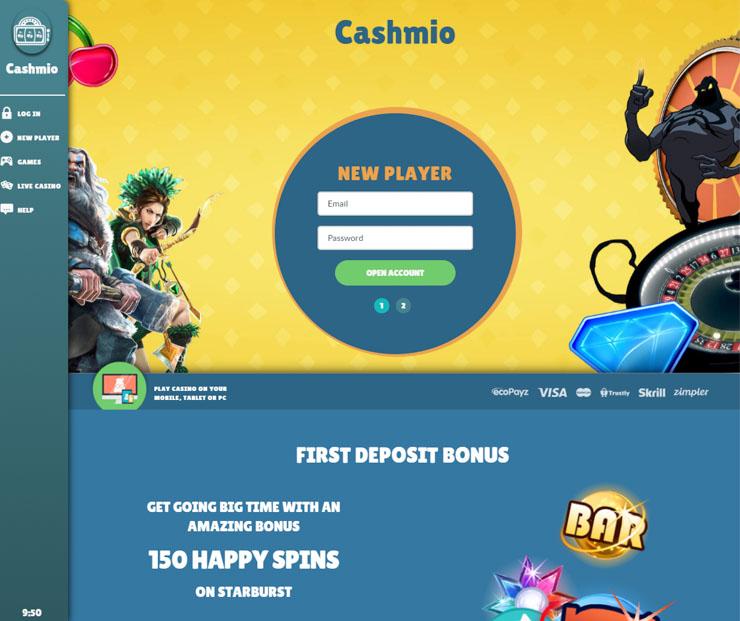 Cashmio Casino.
