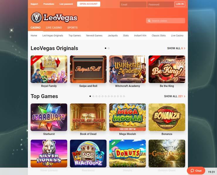 LeoVegas casino.