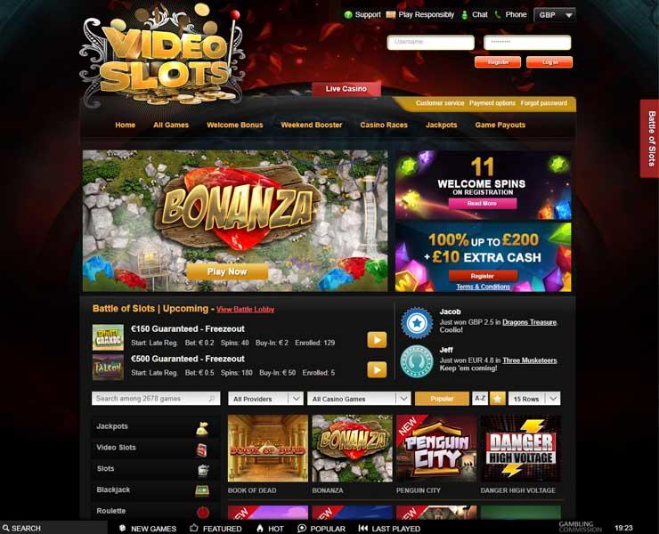 Videoslots.com casino.