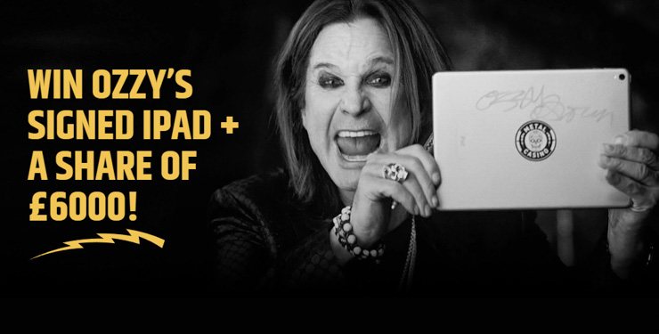 Win an exclusive iPad signed by none other than Ozzy Osbourne and £3000 in real cash!