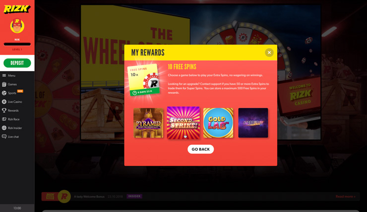 Rizk Live Casino Welcome Bonus (NEW) - 25% Cashback to ...