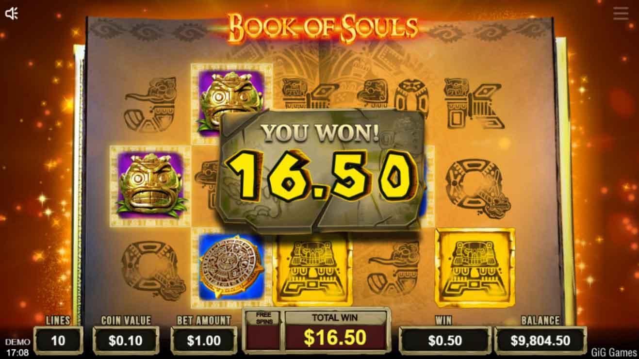 Book of Souls bonus win.