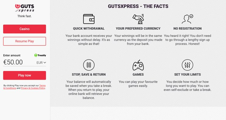GutsXpress facts.