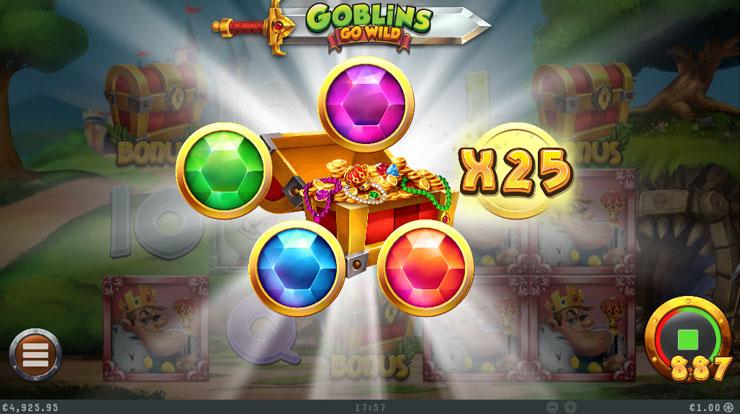 Goblins Go Wild Pick 'N' Win feature.