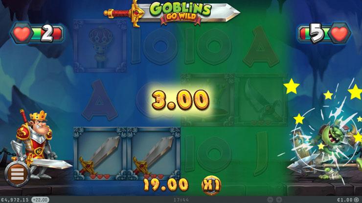 Goblins Go Wild Free Spins bonus.