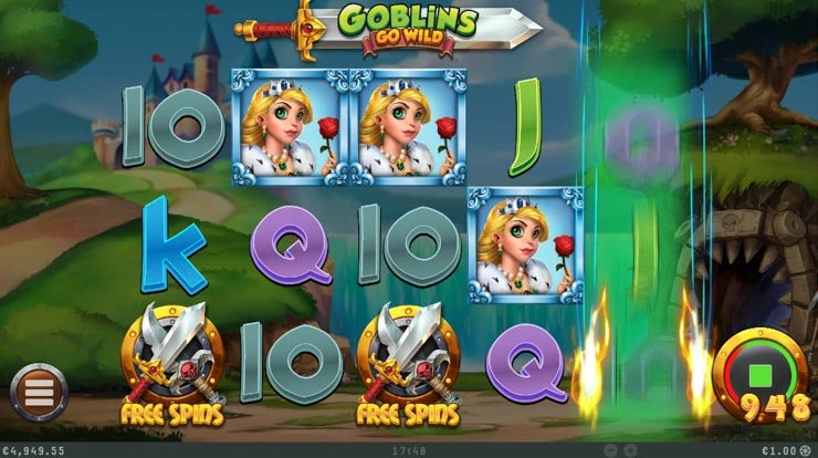 Goblins Go Wild Free Spins trigger.