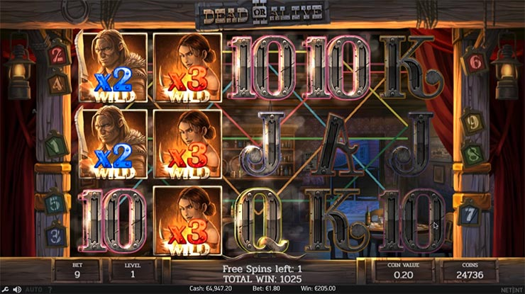 Dead or Alive 2 Free Spins Big Win.