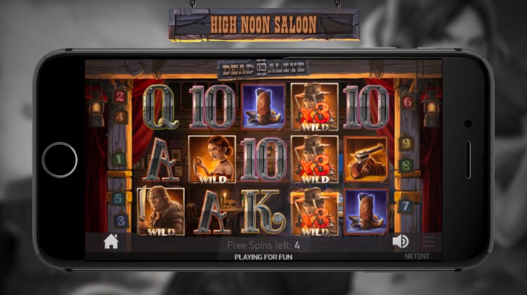 Dead or Alive 2 High Noon Saloon Free Spins bonus.