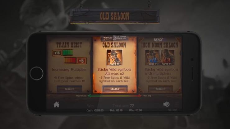 Dead or Alive 2 Old Saloon Free Spins bonus.