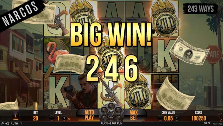 Narcos Video Slot Big Win.