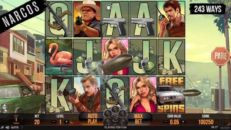 Narcos Video Slot Drive-by feature.