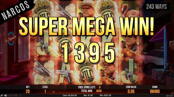 Narcos slot Super Mega Win!