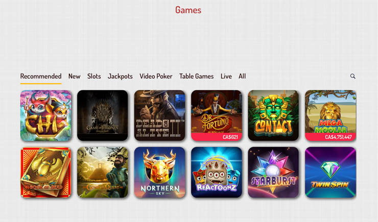 Karjala Kasino recommended games 2019.